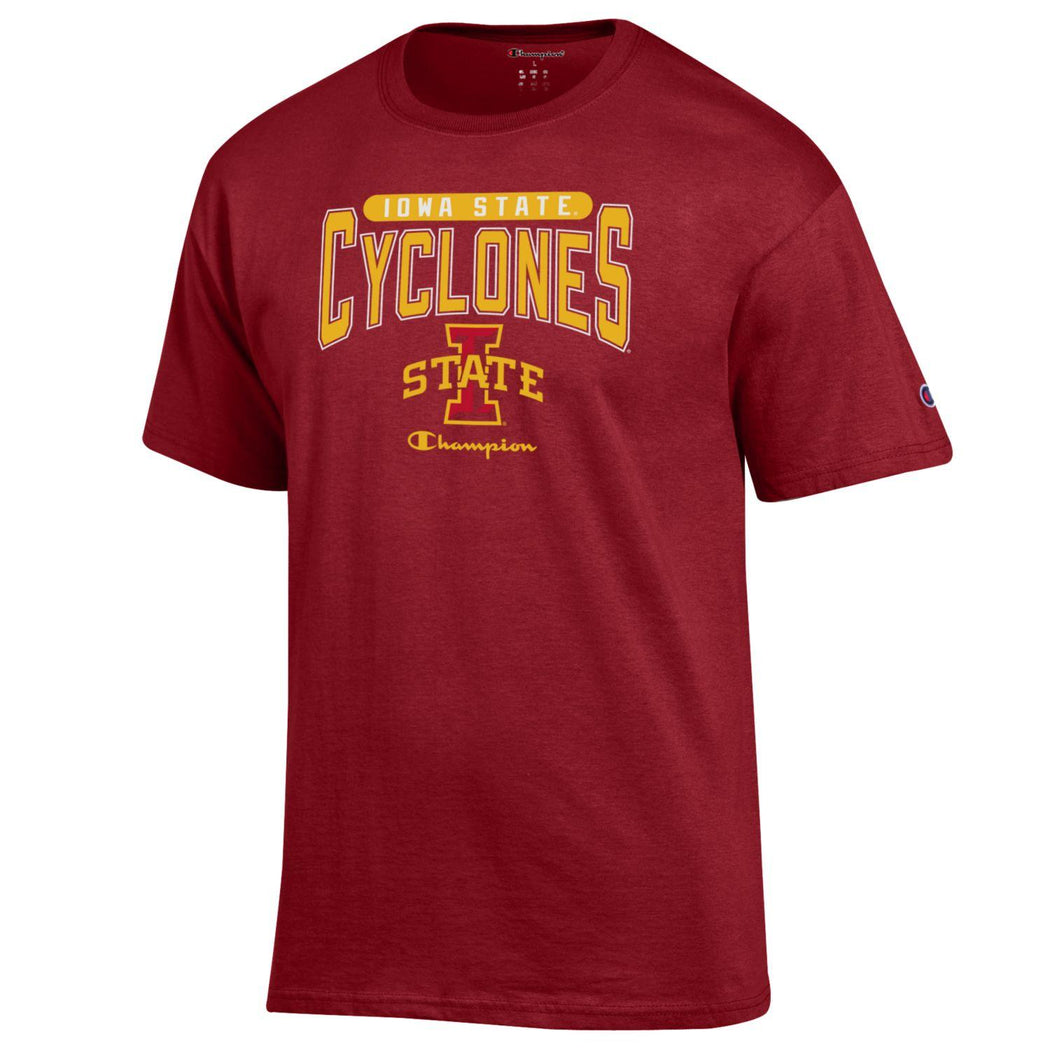 Champion Shirts Iowa State Cyclones Champion Men's Arched T-Shirt - Red