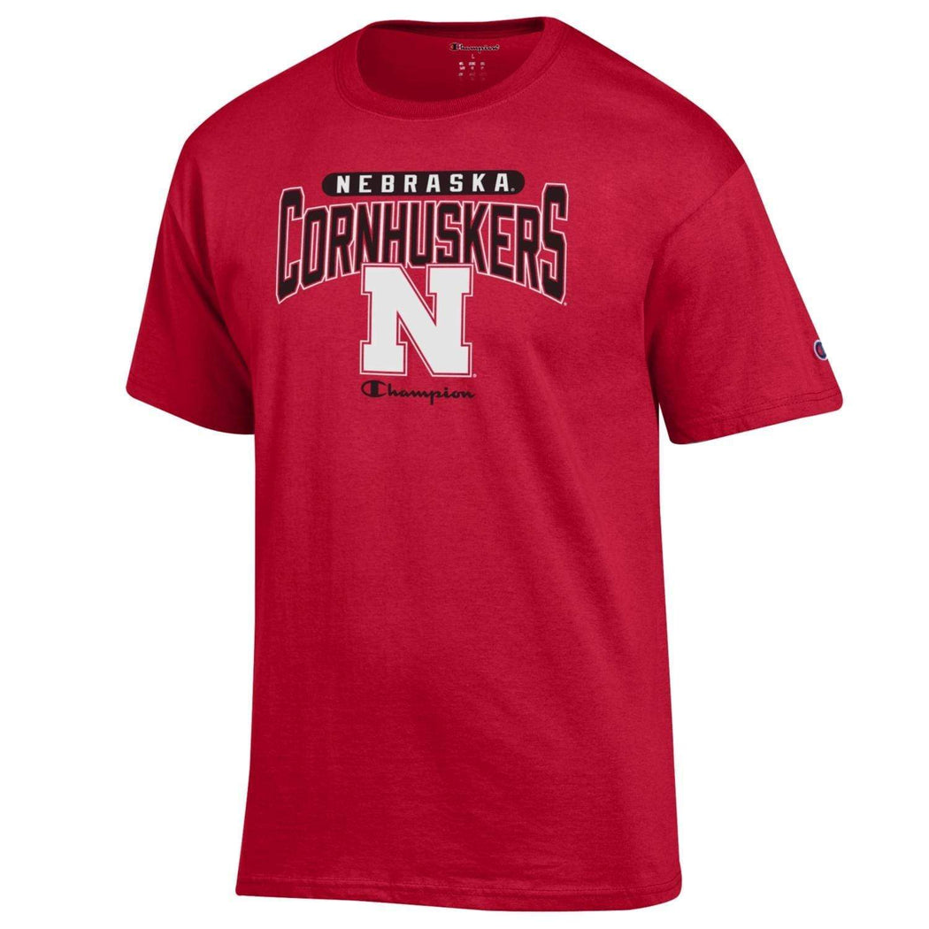 Champion Shirts Nebraska Cornhuskers Champion Men's Arched T-Shirt - Red