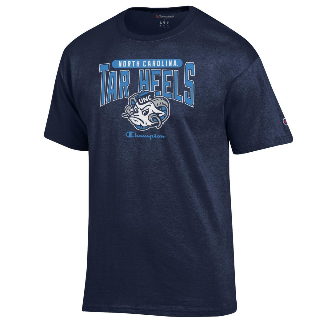 Champion Shirts North Carolina Tar Heels Champion Men's Arched T-Shirt - Navy Blue