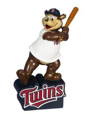 "Evergreen Enterprises Novelty 12"" / Navy Blue Minnesota Twins TC Bear Mascot Statue - 12"""