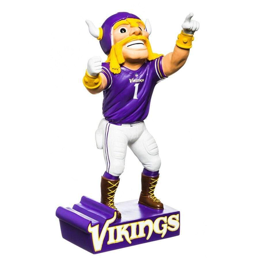 "Evergreen Enterprises Novelty 12"" / Purple Minnesota Vikings 12"" Mascot Statue"