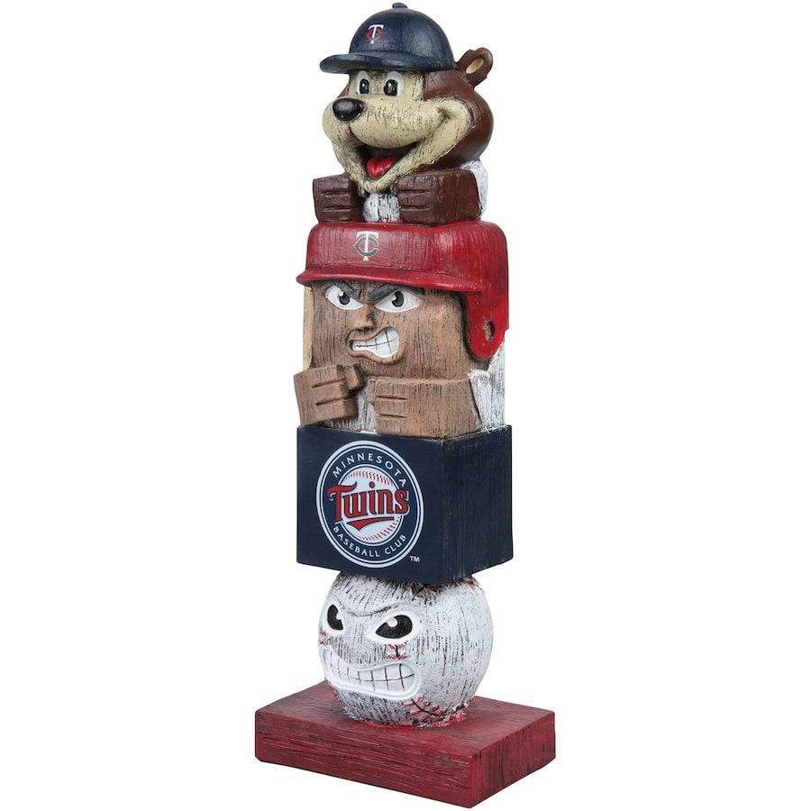 "Evergreen Enterprises Novelty 5.5"" x 4"" x 16"" / Team Colors Minnesota Twins Evergreen Enterprises Tiki Totem Pole"