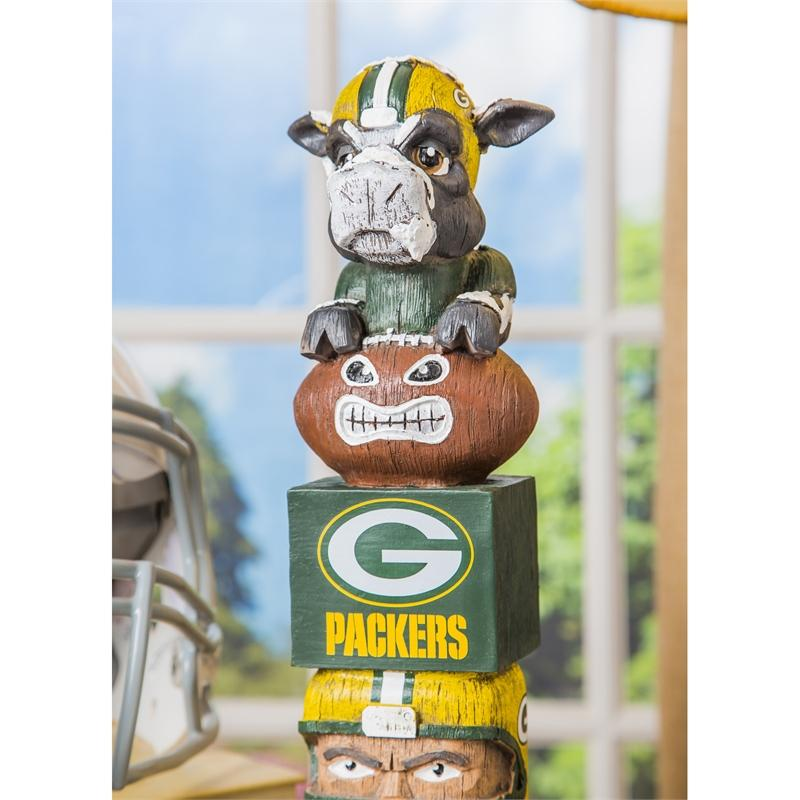 Evergreen Enterprises Novelty Green Bay Packers Evergreen Enterprises Tiki Totem Pole