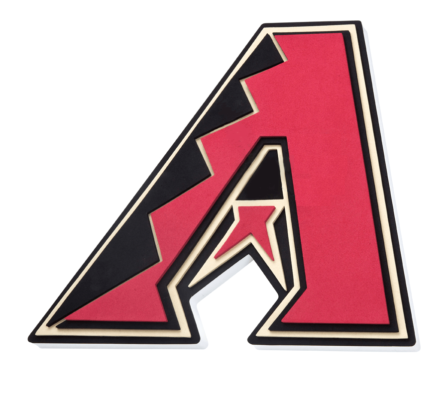 Fan Fave Foam Logo Signs Team Colors Arizona Diamondbacks 3D Fan Foam Logo Sign