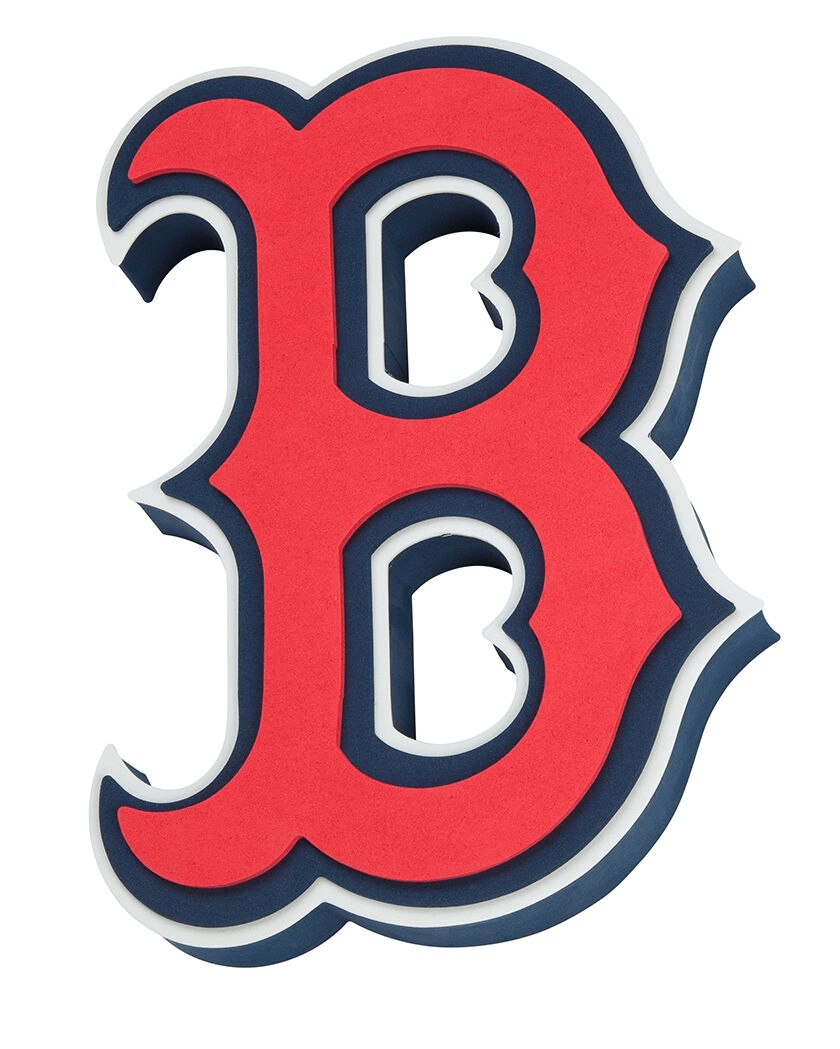 Fan Fave Foam Logo Signs Team Colors Boston Red Sox 3D Fan Foam Logo Sign