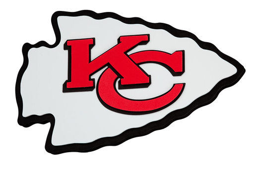Fan Fave Foam Logo Signs Team Colors Kansas City Chiefs 3D Fan Foam Logo Sign