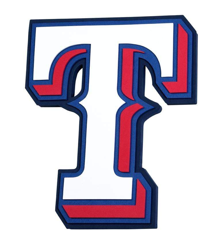 Fan Fave Foam Logo Signs Team Colors Texas Rangers 3D Fan Foam Logo Sign