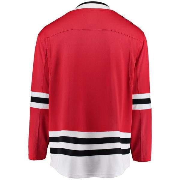 Fanatics Adult Jersey Men's Chicago Blackhawks Fanatics Branded Red Breakaway Blank Jersey