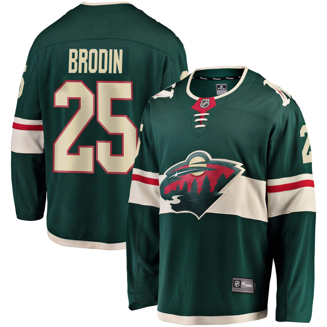 Fanatics Adult Jersey Men's Jonas Brodin Minnesota Wild Fanatics Branded Green Breakaway Player Jersey