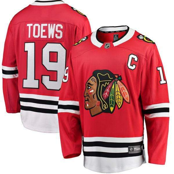 Fanatics Adult Jersey Men's Jonathan Toews Chicago Blackhawks Fanatics Branded Red Breakaway Player Jersey