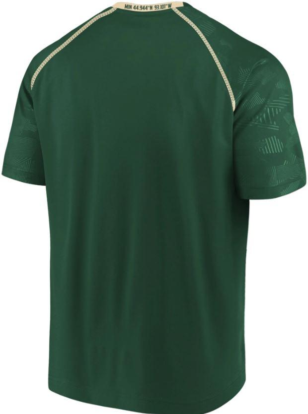 Fanatics Shirts Men's Minnesota Wild Fanatics Green Defender Mission T Shirt