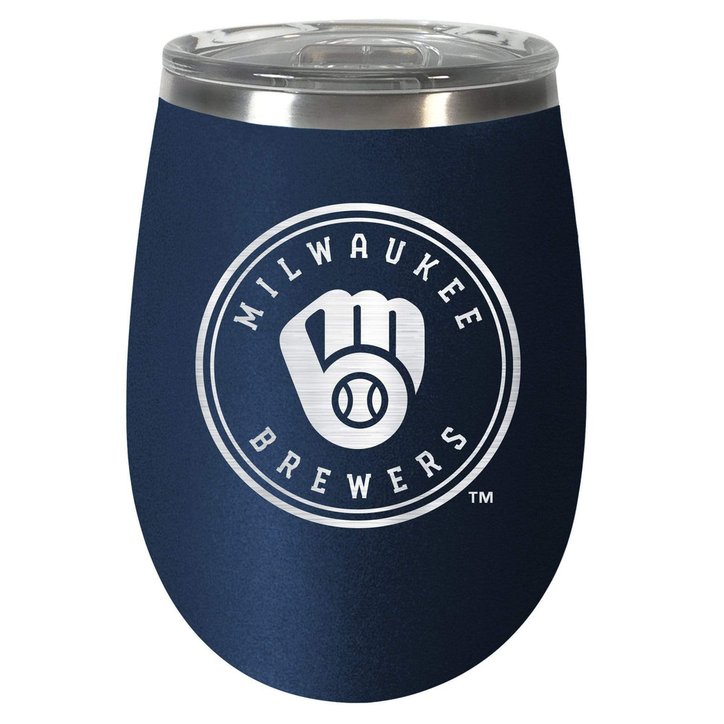 Great American Products Drinkware Milwaukee Brewers 10 oz. Team Colored Wine Tumbler