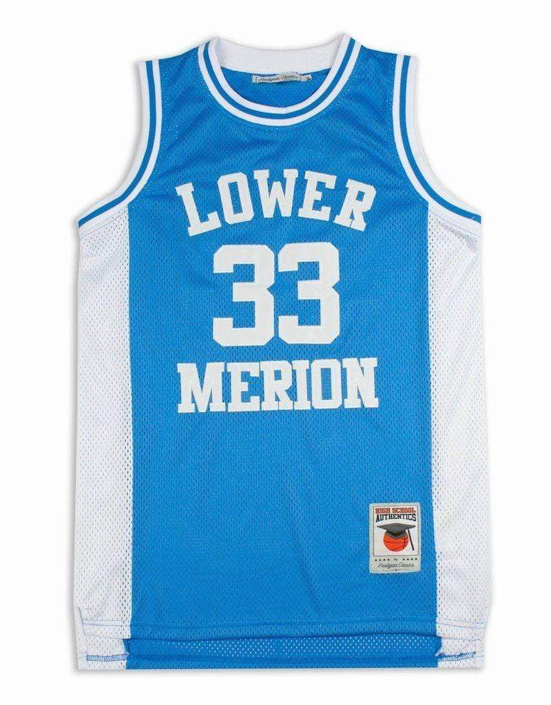 Headgear Adult Jersey Kobe Bryant Lower Merion Headgear Men's Blue High School Retro Jersey