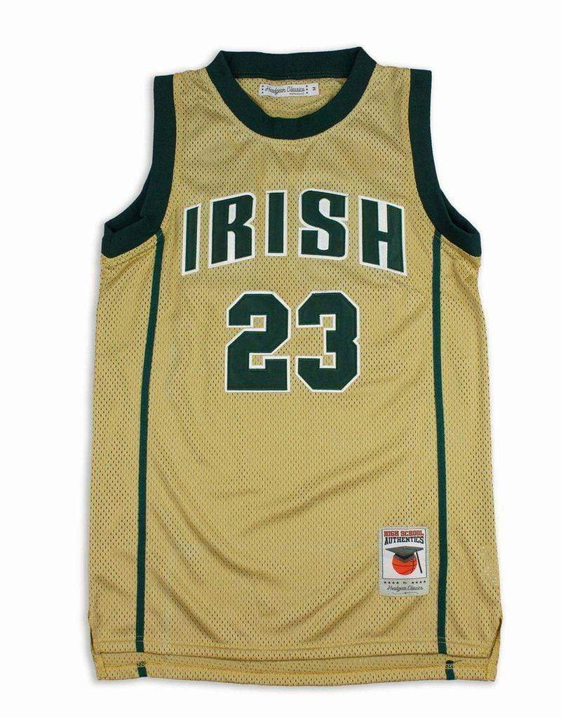 Headgear Adult Jersey LeBron James St. Vincent Headgear Men's Gold High School Retro Jersey