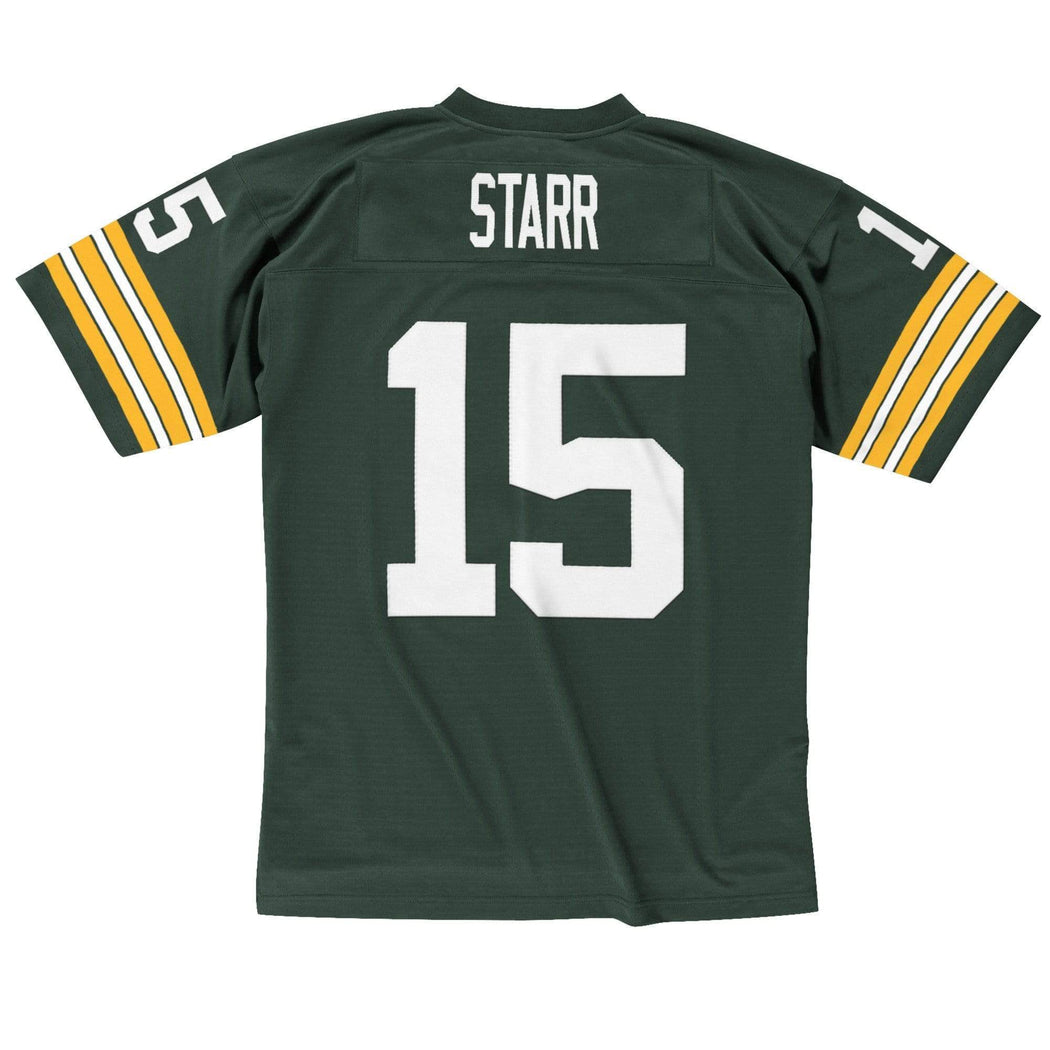 Mitchell & Ness Adult Jersey Bart Starr Green Bay Packers Mitchell & Ness NFL Green Throwback Jersey
