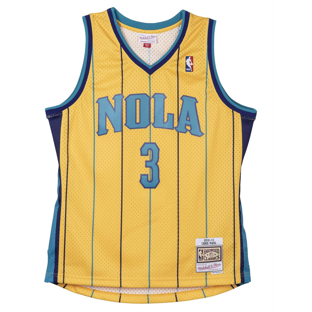 Mitchell & Ness Adult Jersey Chris Paul New Orleans Hornets Mitchell & Ness Yellow 2010 Throwback Swingman Jersey