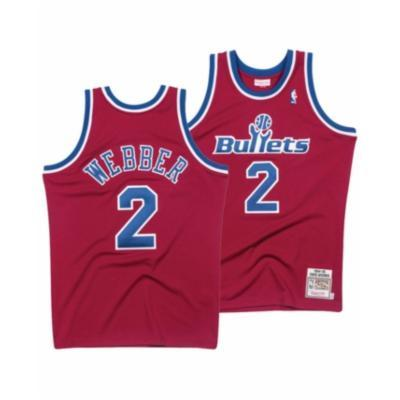 Mitchell & Ness Adult Jersey Chris Webber Washington Bullets Mitchell & Ness NBA Red Throwback Swingman Jersey
