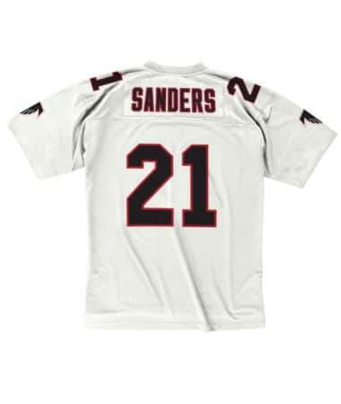 Mitchell & Ness Adult Jersey Deion Sanders Atlanta Falcons Mitchell & Ness NFL Men's White Retired Throwback Jersey