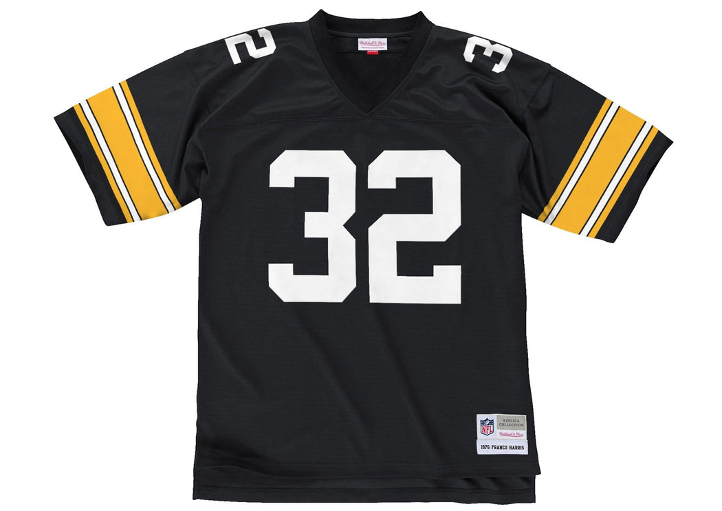 Mitchell & Ness Adult Jersey Franco Harris Pittsburgh Steelers Mitchell & Ness NFL Black Throwback Jersey