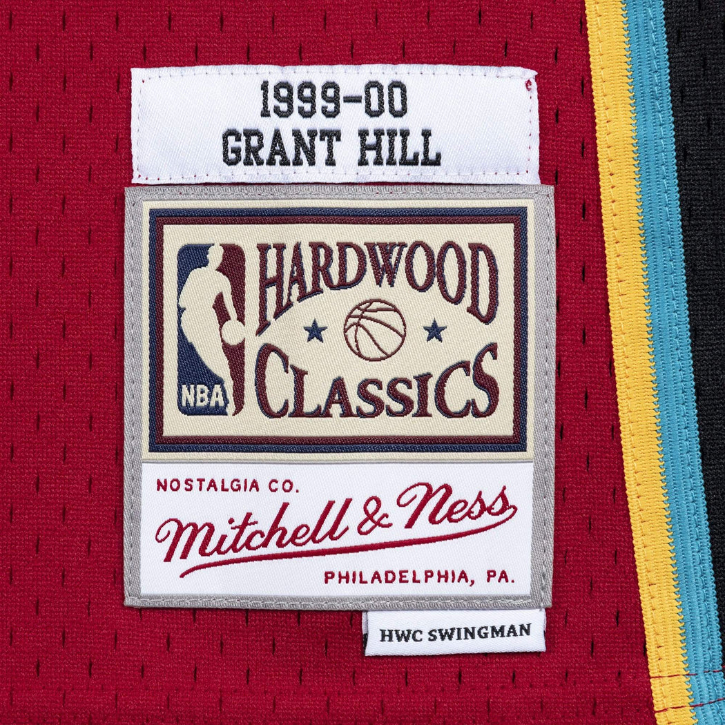 Mitchell & Ness Adult Jersey Grant Hill Detroit Pistons 1999-00 Mitchell & Ness Red Throwback Swingman Jersey