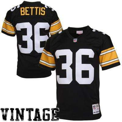 Mitchell & Ness Adult Jersey Jerome Bettis Pittsburgh Steelers Mitchell & Ness NFL Black Throwback Jersey