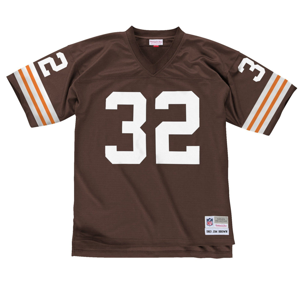 Mitchell & Ness Adult Jersey Jim Brown Cleveland Browns Mitchell & Ness NFL Brown Throwback Jersey