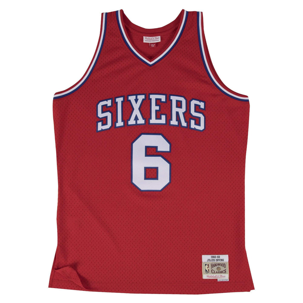 Mitchell & Ness Adult Jersey Julius Erving Philadelphia 76ers Mitchell & Ness Red Throwback Swingman Jersey
