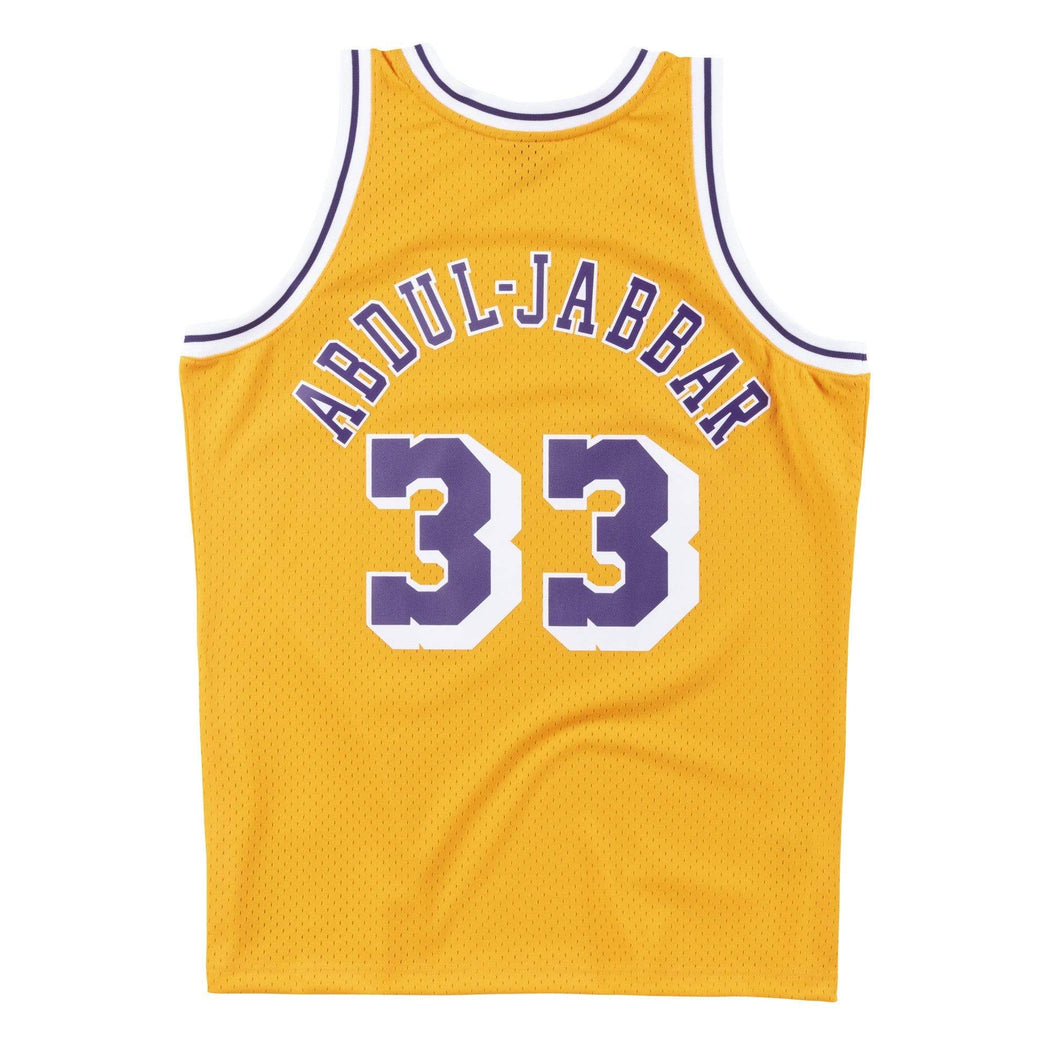 Mitchell & Ness Adult Jersey Kareem Abdul-Jabbar Los Angeles Lakers Mitchell & Ness Gold 1984 Throwback Swingman Jersey