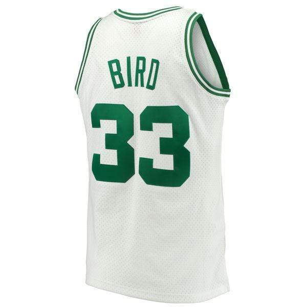 Mitchell & Ness Adult Jersey Larry Bird Boston Celtics Mitchell & Ness White Throwback Swingman Jersey