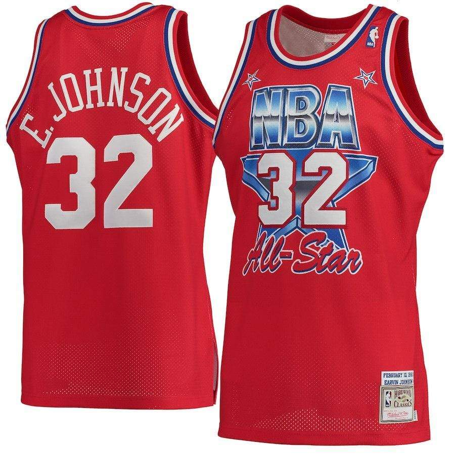 Mitchell & Ness Adult Jersey Magic Johnson Los Angeles Lakers Mitchell & Ness Men's Red 1991 All-Star Swingman Jersey