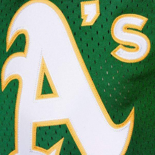 Mitchell & Ness Adult Jersey Men's Reggie Jackson Oakland Athletics Mitchell & Ness Green Cooperstown Mesh Batting Practice Jersey
