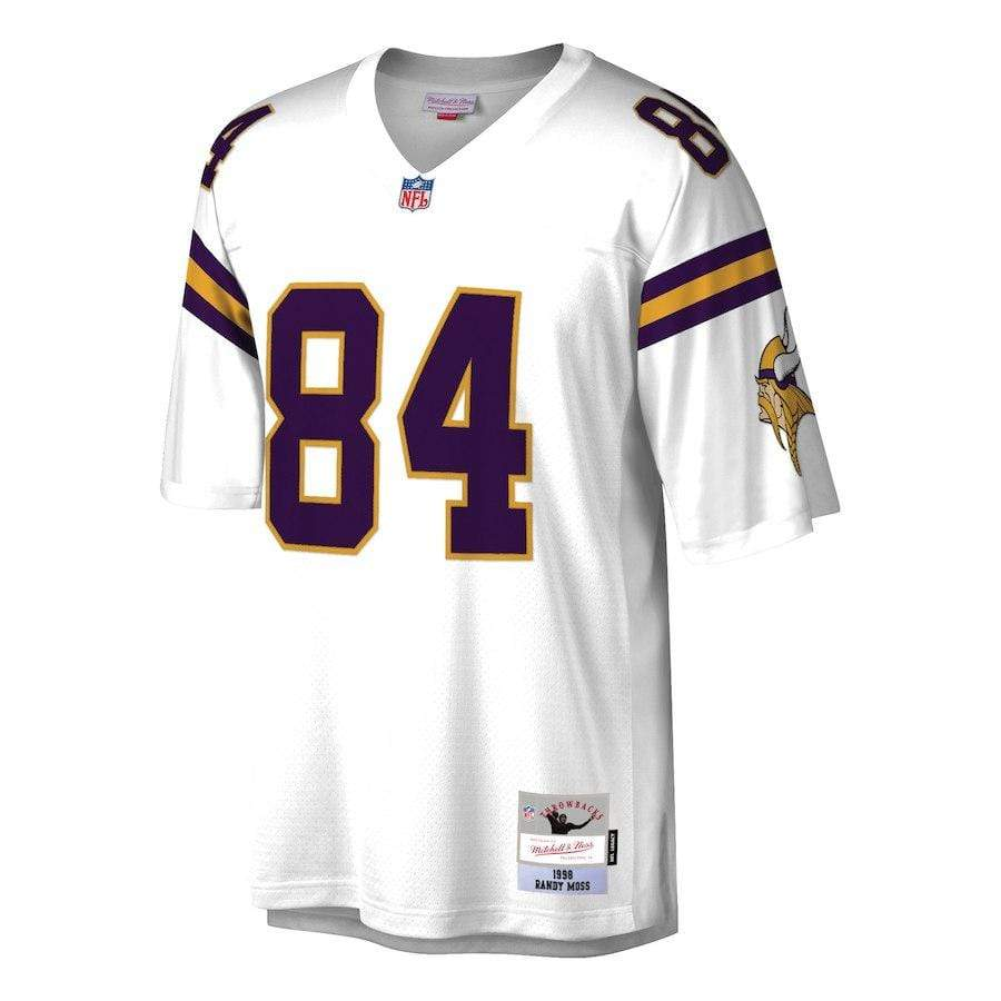 Mitchell & Ness Adult Jersey Randy Moss Minnesota Vikings Mitchell & Ness NFL White Throwback Jersey