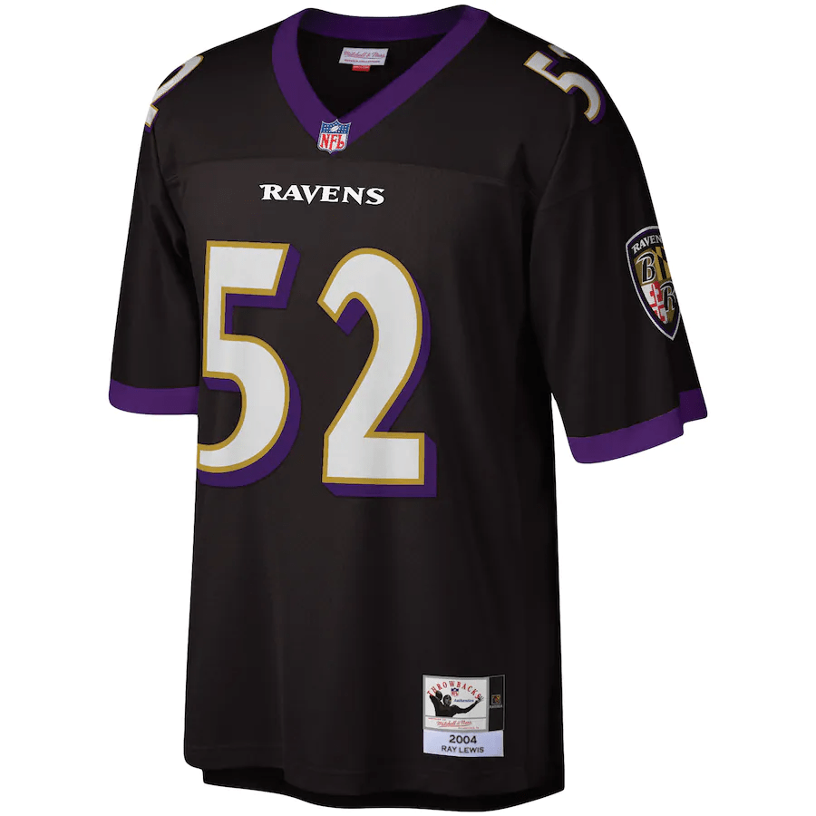 Ray Lewis Baltimore Ravens Mitchell & Ness NFL Men's Black Throwback Jersey