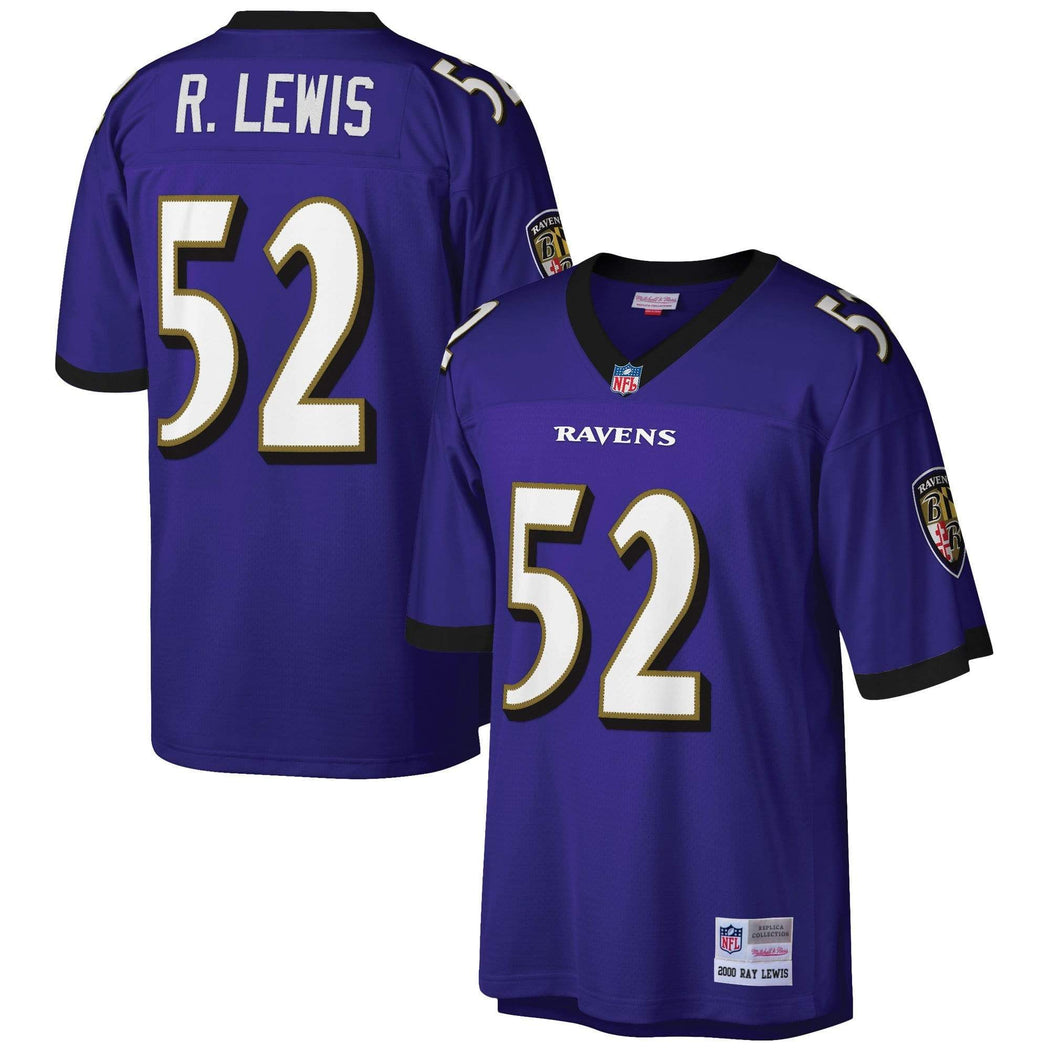 Mitchell & Ness Adult Jersey Ray Lewis Baltimore Ravens Mitchell & Ness NFL Men's Purple Throwback Jersey