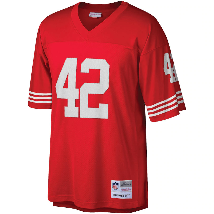Mitchell & Ness Adult Jersey Ronnie Lott San Francisco 49ers Mitchell & Ness NFL Red Throwback Jersey