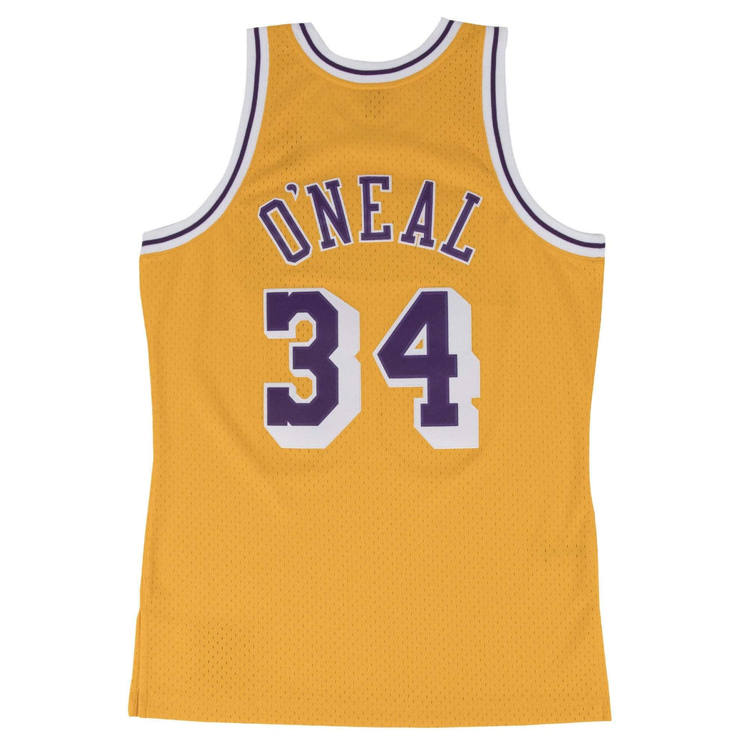Mitchell & Ness Adult Jersey Shaquille O'Neal Los Angeles Lakers Mitchell & Ness Gold Throwback Swingman Jersey