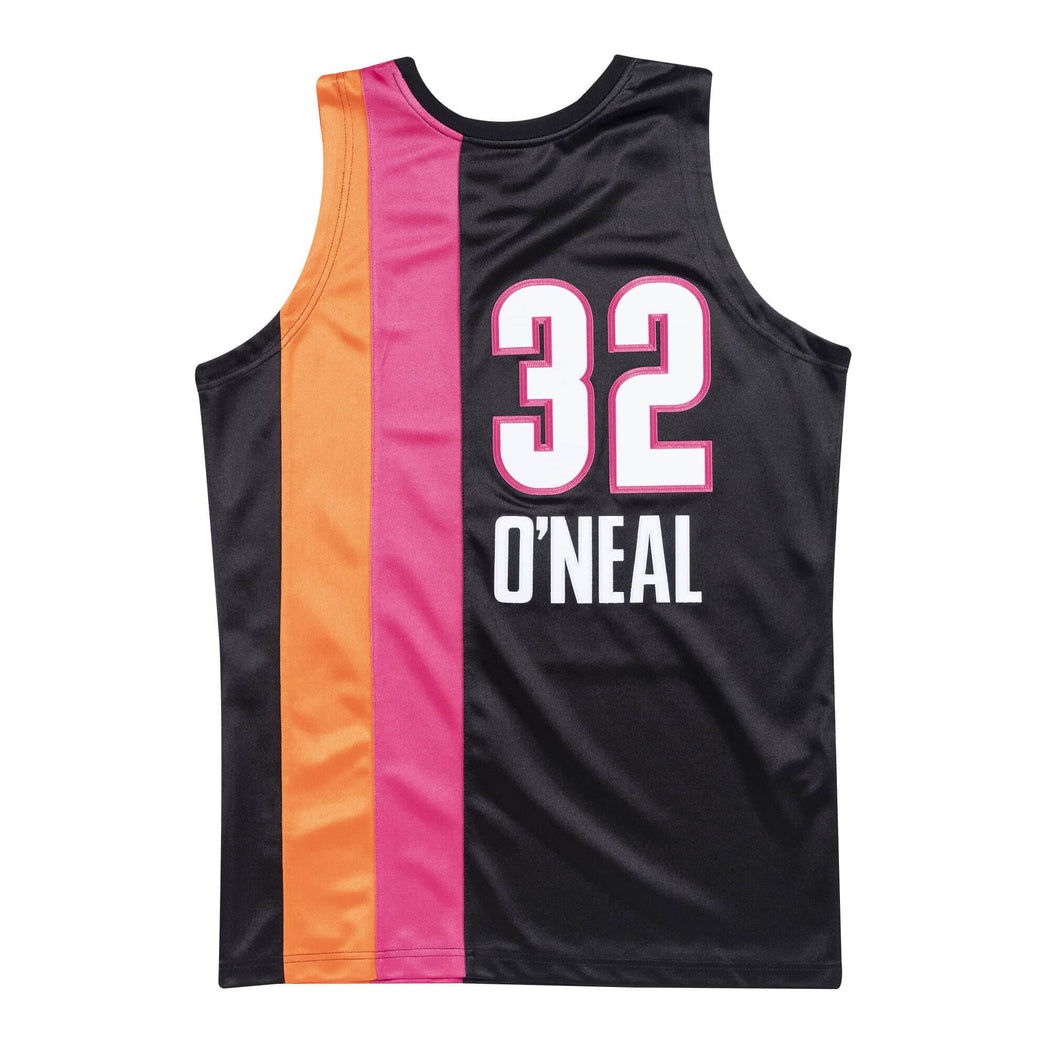 Mitchell & Ness Adult Jersey Shaquille O'Neal Miami Heat Mitchell & Ness NBA 2005-06 Black Alternate Throwback Swingman Jersey