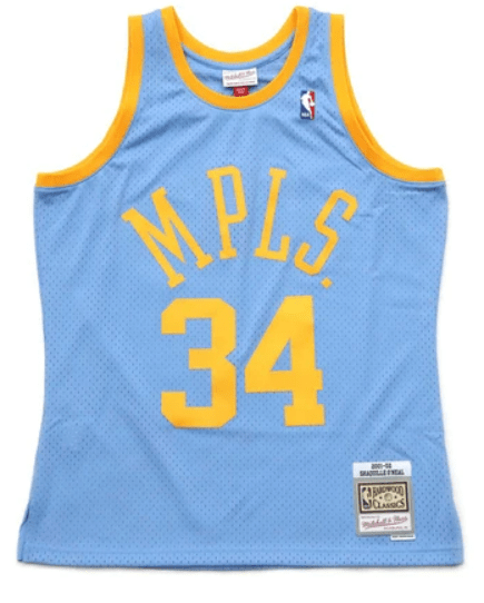 Shaquille O'Neal Minneapolis Lakers 2001-02 Mitchell & Ness Blue Throwback Swingman Jersey