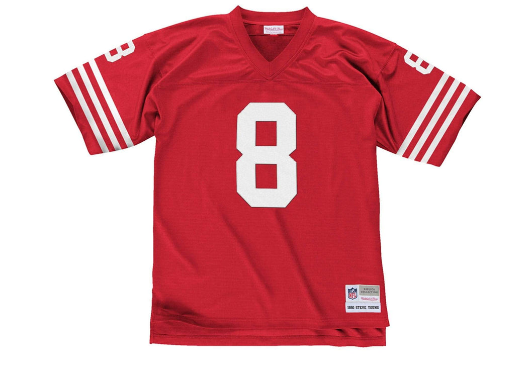 Mitchell & Ness Adult Jersey Steve Young San Francisco 49ers Mitchell & Ness NFL Red Throwback Jersey