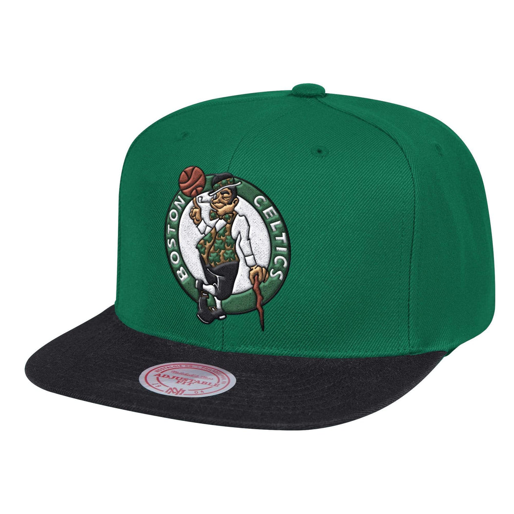 Mitchell & Ness Hats Adjustable / Green Boston Celtics Wool 2 Tone Green Snapback Hat