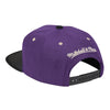 Mitchell & Ness Hats Adjustable / Purple Los Angeles Lakers Classic Contrast Stitch Snapback Hat - Purple