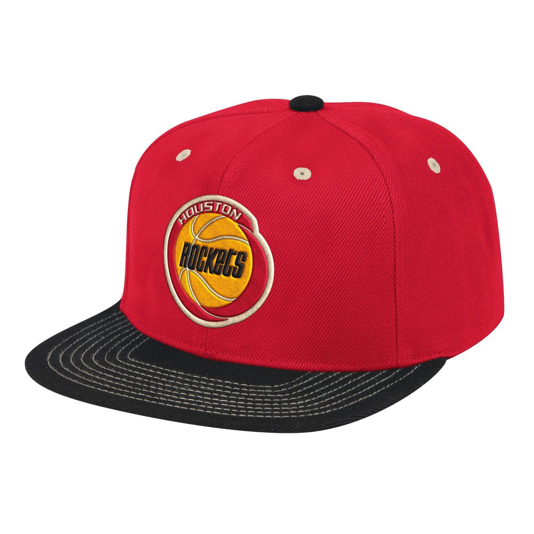 Mitchell & Ness Hats Adjustable / Red Houston Rockets Classic Contrast Stitch Snapback Hat - Red