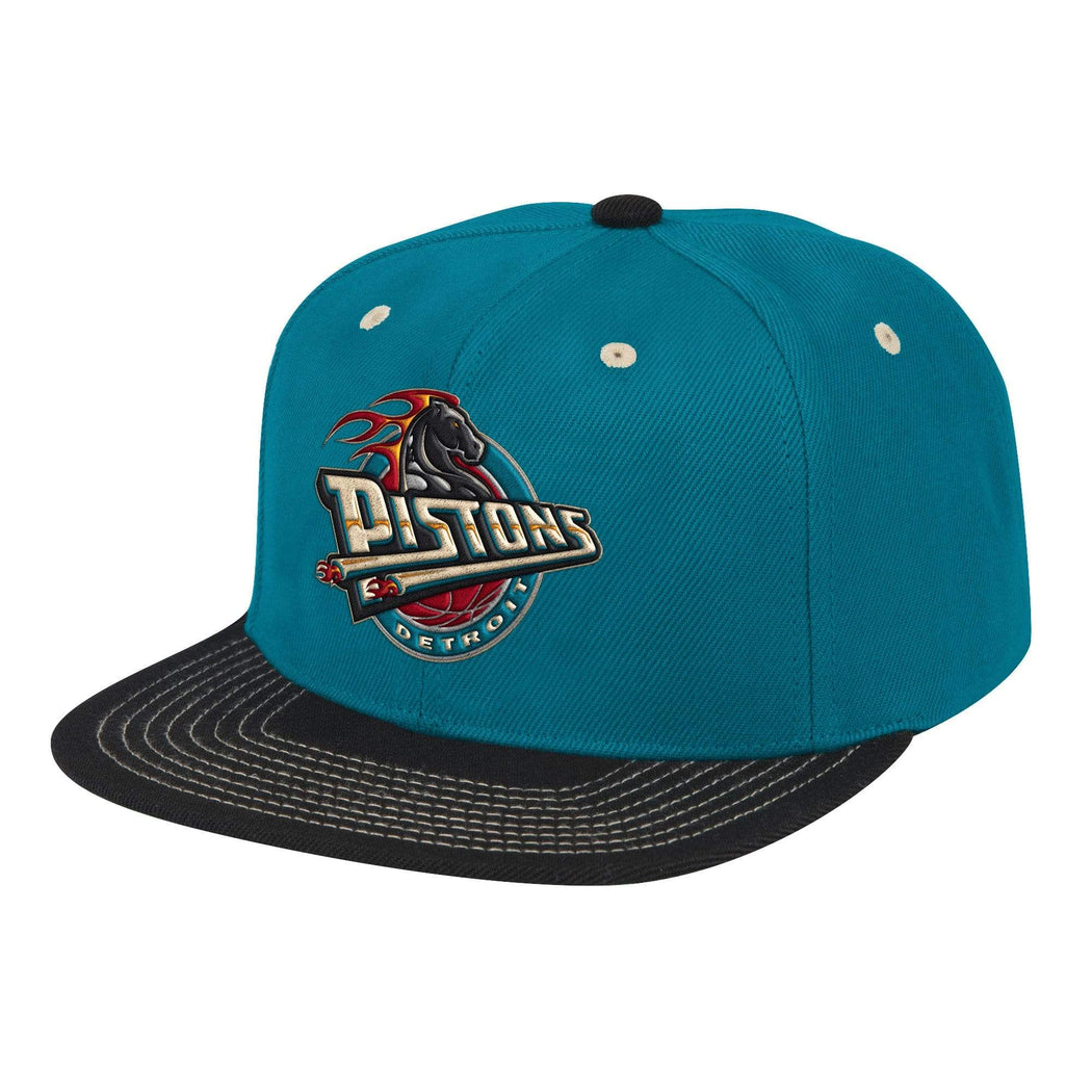 Mitchell & Ness Hats Adjustable / Teal Detroit Pistons Classic Contrast Stitch Snapback Hat - Teal