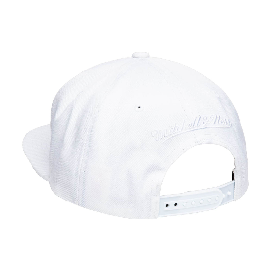 Mitchell & Ness Hats Adjustable / White Men's Miami Heat Mitchell & Ness White Team Ground Snapback Hat