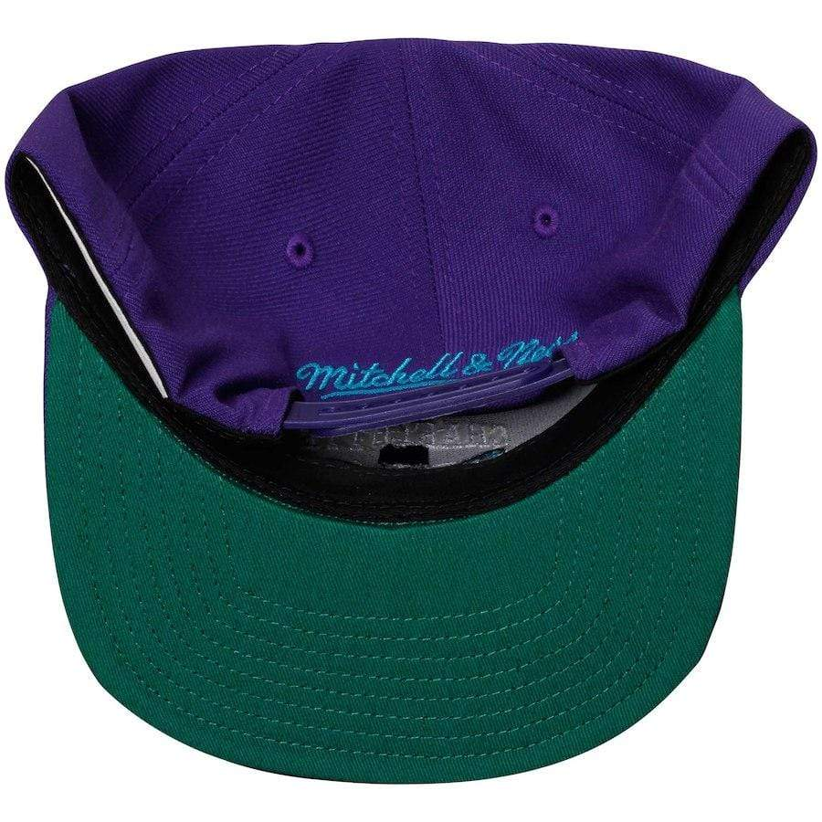 Mitchell & Ness Hats OSFM / Purple Charlotte Hornets Mitchell & Ness Men's Purple Solid Wool Snapback Hat