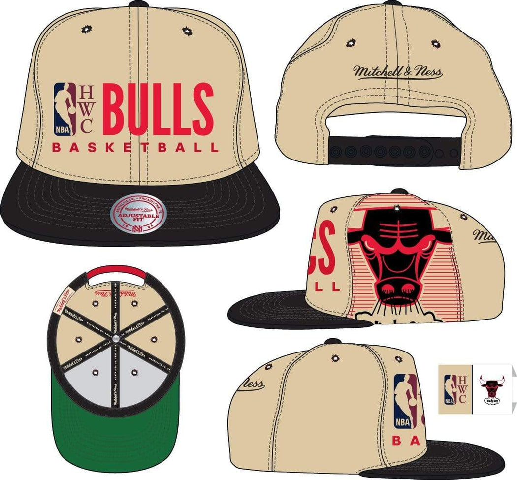 Mitchell & Ness Hats OSFM / Sand Chicago Bulls Mitchell & Ness Men's Big Face Logo HWC Snapback Hat