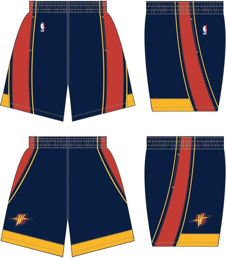 Mitchell & Ness Shorts Youth Golden State Warriors Mitchell & Ness NBA 2009 Navy Throwback Swingman Shorts