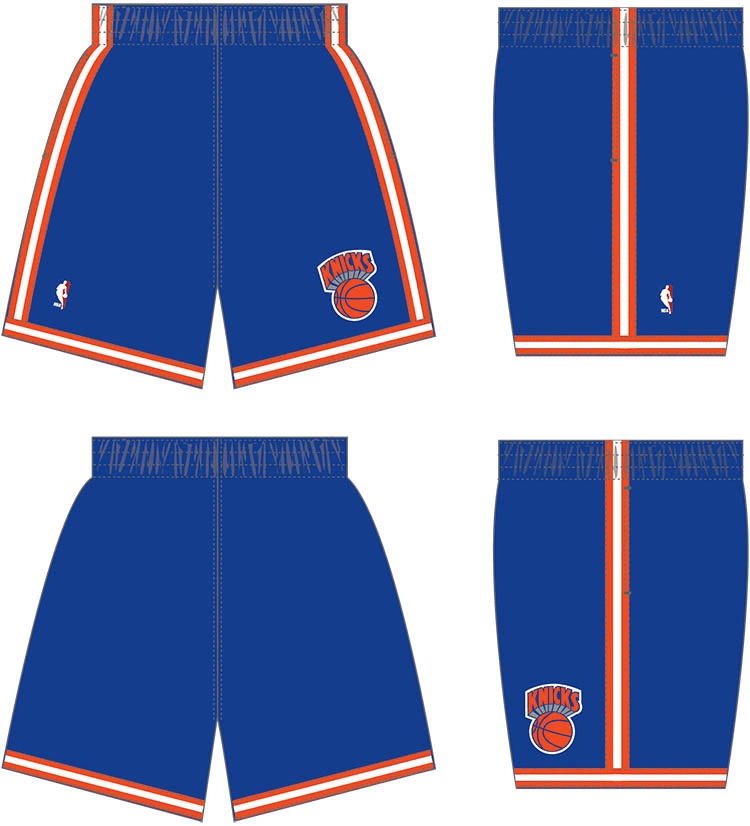 Mitchell & Ness Shorts Youth New York Knicks Mitchell & Ness NBA 1991 Blue Throwback Swingman Shorts