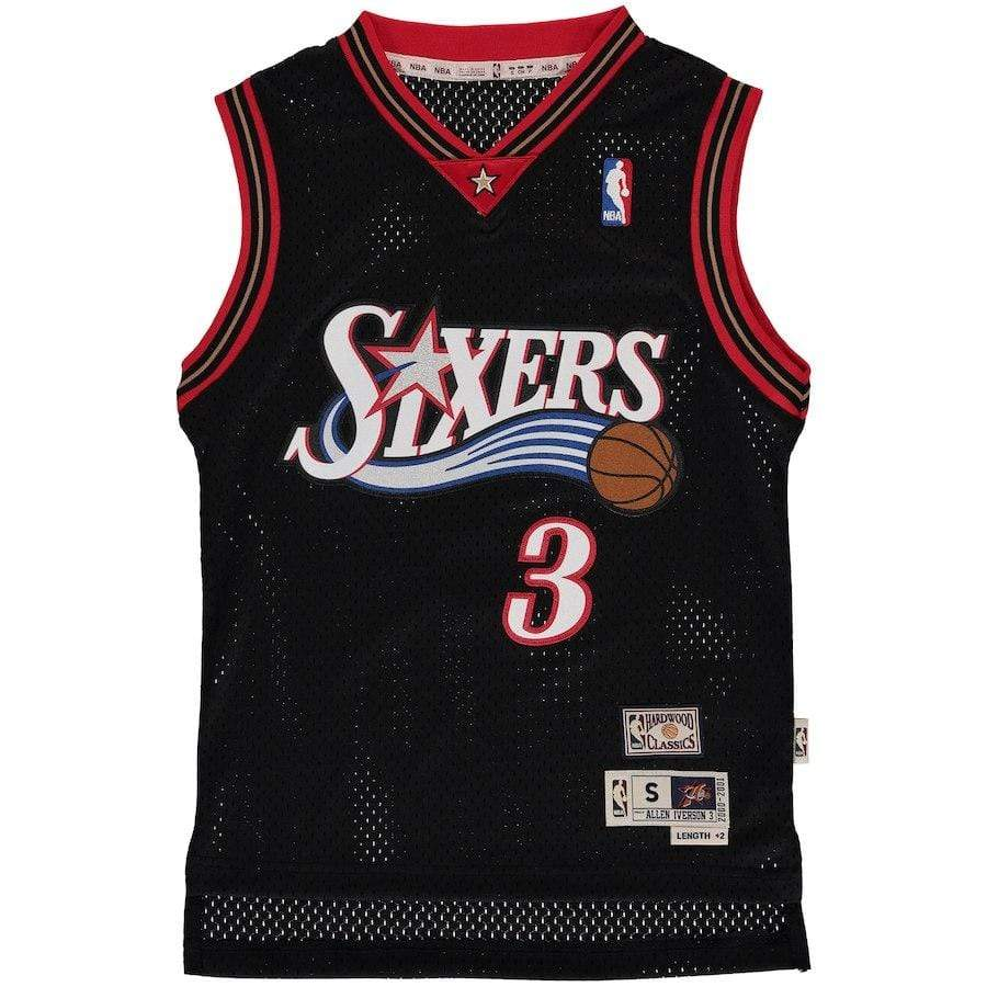 Mitchell & Ness Youth Jersey Youth Allen Iverson Philadelphia 76ers Mitchell & Ness NBA Black Throwback Jersey