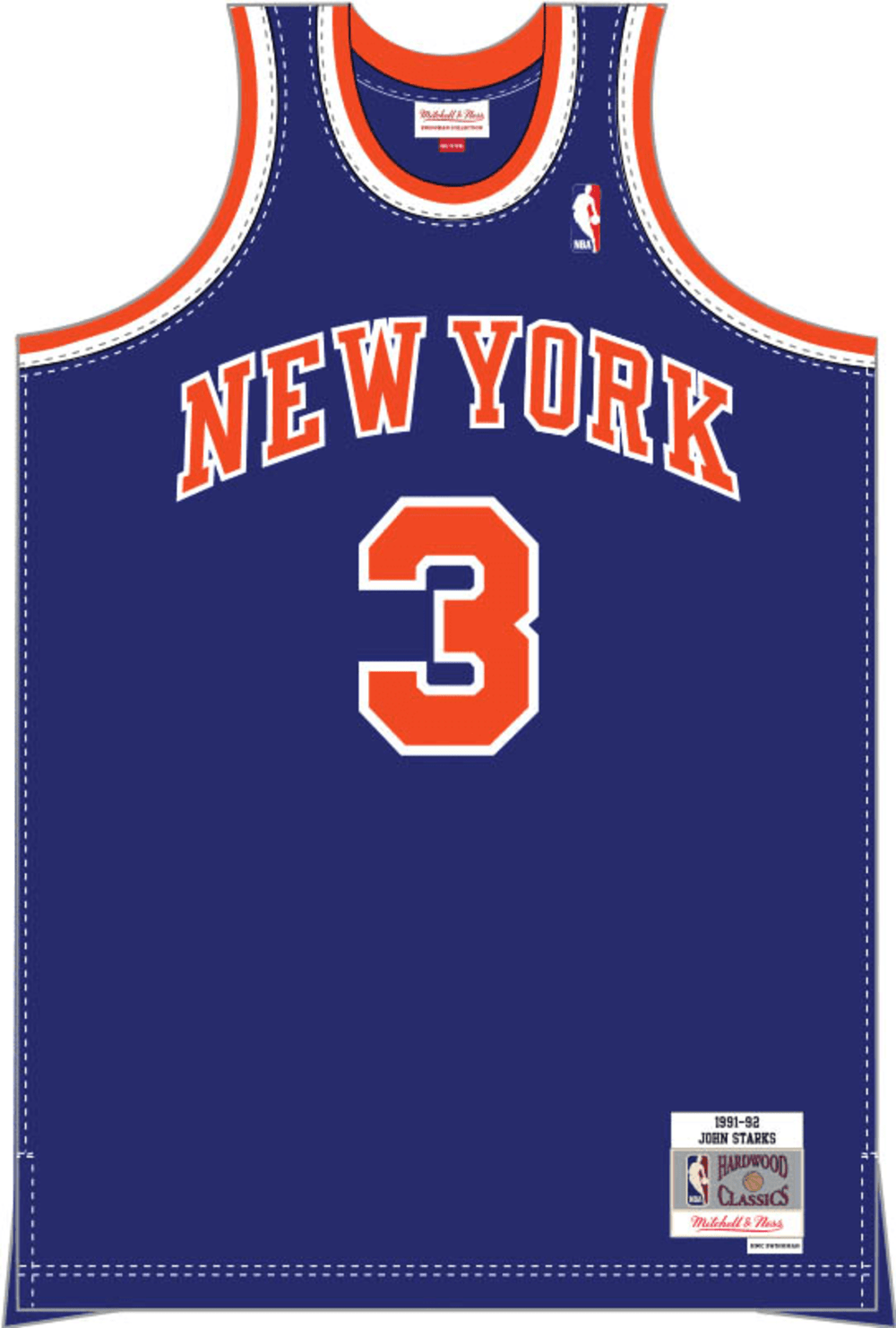 Mitchell & Ness Youth Jersey Youth John Starks New York Knicks Mitchell & Ness NBA Blue Throwback Jersey